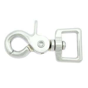 Scherenkarabiner für Gurtbänder 62mm - Verchromt