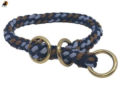 G1 Tauwerk Halsband Sport Messing15mm mit Zugstop, rund geflochten, Liverpool