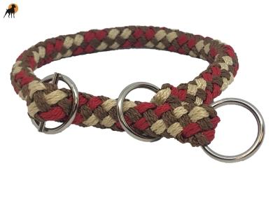 G2 Tauwerk Halsband Sport 20mm, rund geflochten, stufenlos verstellbar, Chestnut