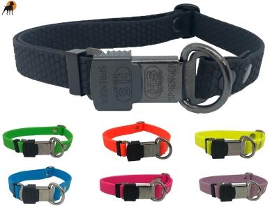 TPU Hexa Halsband mit Cliclock Sicherheitsverschluß 20mm, verstellbar