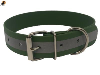 TPU Reflect Warnhalsband Basic, Breite: 25mm, Olivgrün