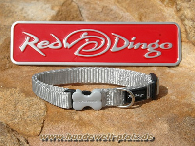 Red Dingo Halsband 12mm, hellgrau