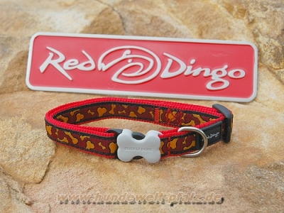 Red Dingo Halsband 12mm, Bonarama-Orange
