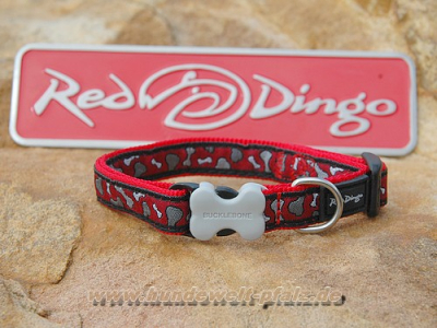 Red Dingo Halsband 12mm, Bonarama-Red