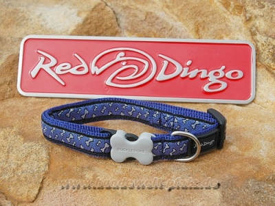 Red Dingo Halsband 12mm, Flying Bones