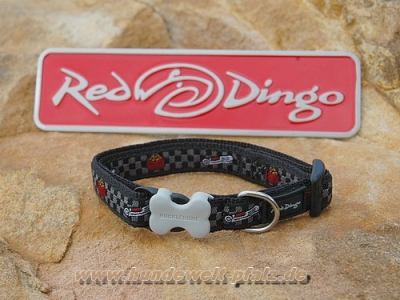 Red Dingo Halsband 12mm, Dog Bowl