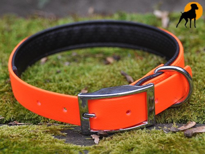 Biothane BETA Halsband Soft 50cm x 25mm, Signalorange